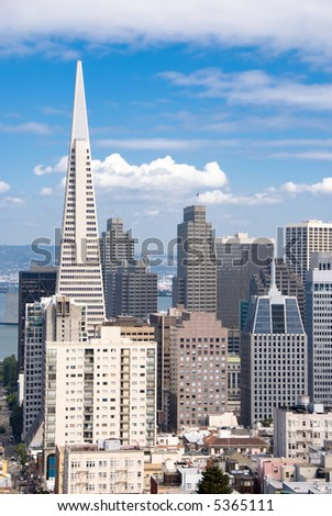 Financial District in San Francisco - stock photo