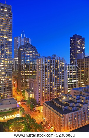 Financial District of San Francisco at Night - stock photo