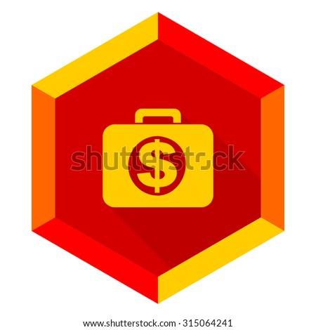 financial flat design modern icon with long shadow for web and mobile app  - stock photo