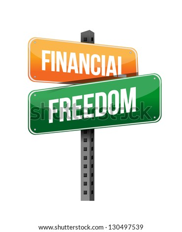 financial freedom illustration design over a white background