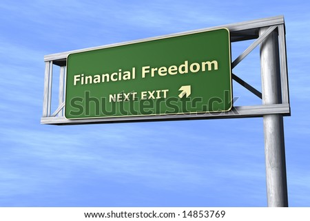 Financial Freedom - Next exit - stock photo