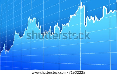 financial graph - stock photo