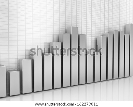 Financial graph 3d illustration - stock photo