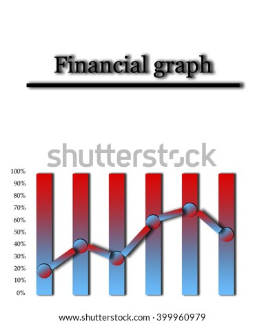Financial graph in two colors with the scale of interest with copy text. Schedule percent - poles of the two colors. Curve and financial schedule - the rise and fall as a percentage. - stock photo