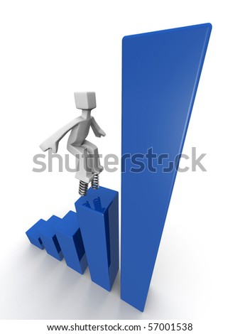 Financial growth and performance concept 3d illustration - stock photo