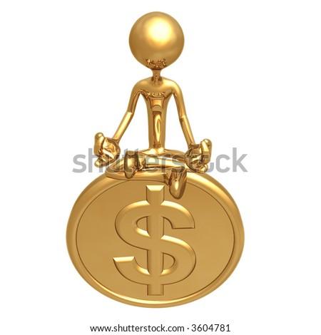 Financial Guru Gold Dollar Coin - stock photo