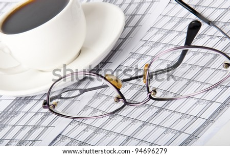 Financial information - stock photo
