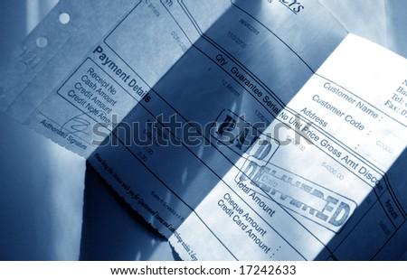 financial Invoice - stock photo