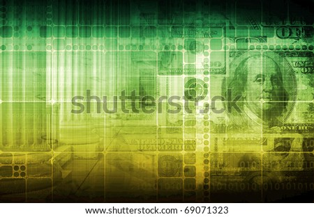 Financial Issues Concept of Money and Law - stock photo