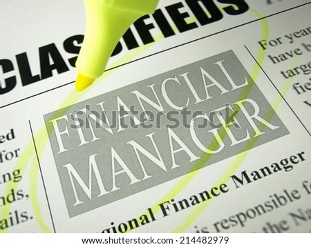 Financial Manager (job search)      - stock photo
