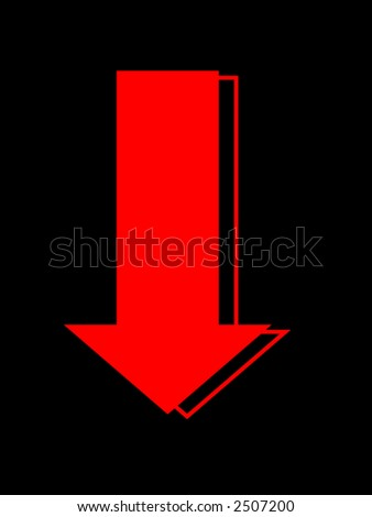 financial market dive and crash - stock photo