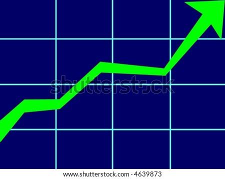 financial market up - stock photo