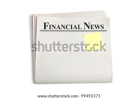 Financial News, Blank Newspaper with white background
