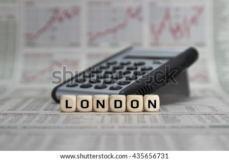 Financial place London - stock photo