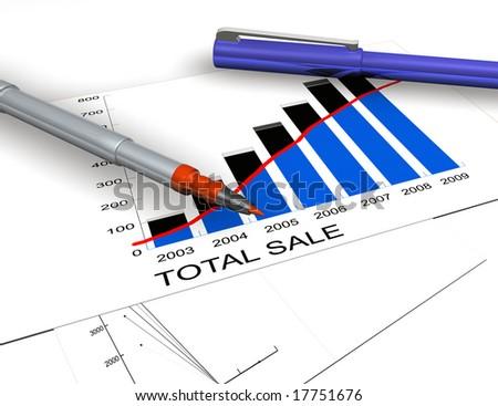 Financial plan - stock photo