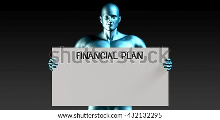 Financial Plan with a Man Carrying Reminder Sign 3D Illustration Render - stock photo