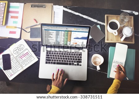 Financial Planning Accounting Report Spreadsheet Concept - stock photo