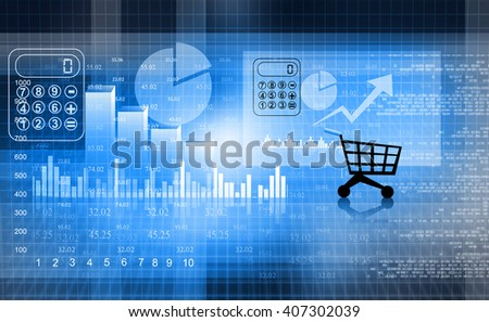 Financial report market , business background