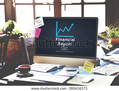Financial Report Money Cash Growth Analysis Concept - stock photo