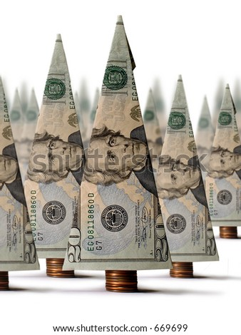 Financial Resources... growing your money. - stock photo