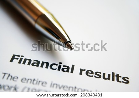 Financial result - stock photo