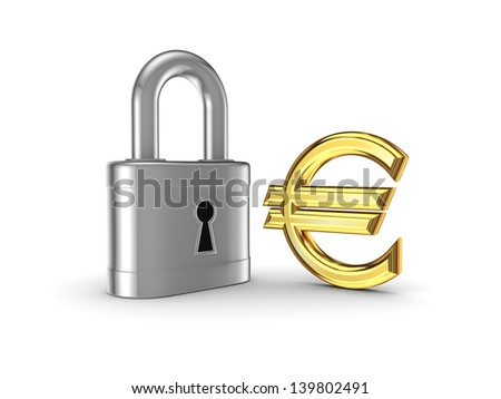 Financial safety concept.Isolated on white.3d rendered.