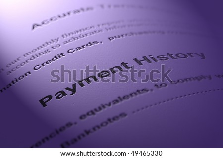 Financial statement. - stock photo