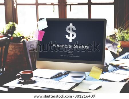 Financial Status Money Cash Dollar Sign Concept - stock photo