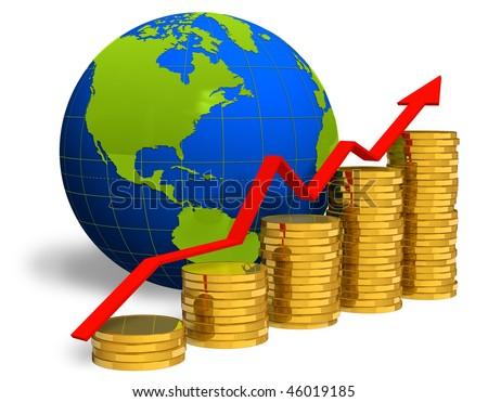 Financial success concept - stock photo