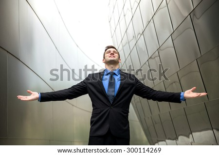 Financial success money wealth and power pride confidence esteem glory owner businessman - stock photo