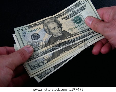 financial transaction - stock photo