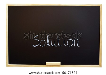 find a solution for your business problem - stock photo