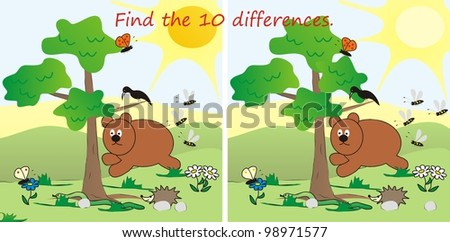 find 10 differences, board game for children
