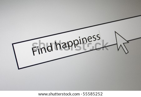 Find happiness - stock photo