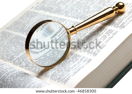 find in the books - stock photo