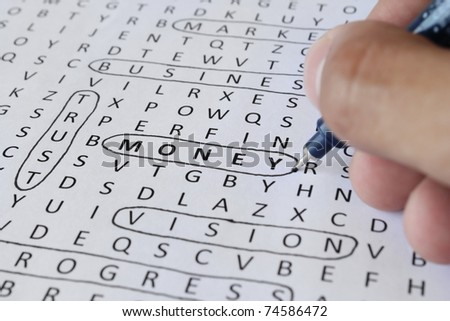 Find money - stock photo