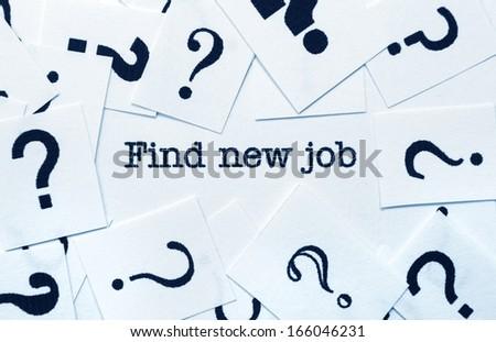 Find new job - stock photo