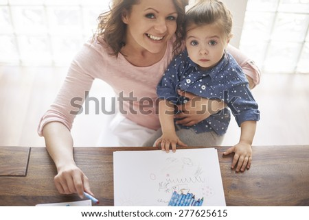 Find some time only for your child  - stock photo