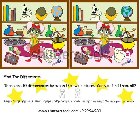 Find The Difference Game - stock photo