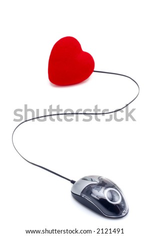 Find your love through the internet - stock photo