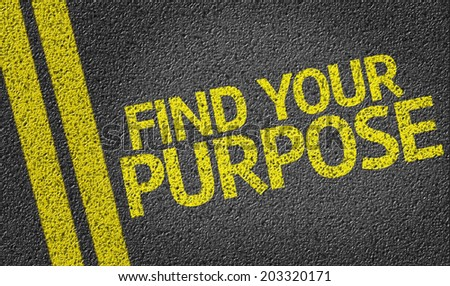 Find your Purpose written on the road - stock photo