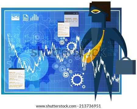 Finding Business Opportunities - Illustration - stock photo