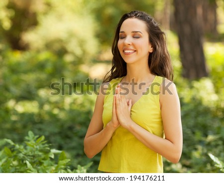 Finding inner peace - stock photo
