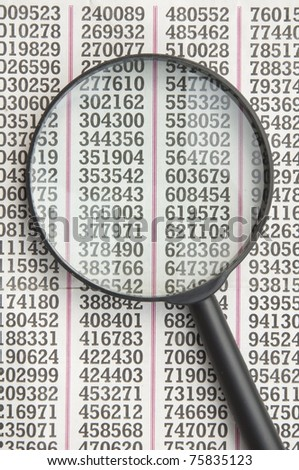 finding number as magnify - stock photo