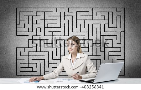 Finding right solution for success - stock photo