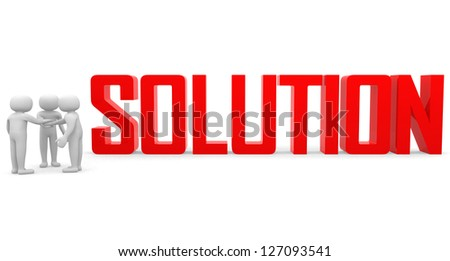Finding solution. Conceptual business illustration. On white background