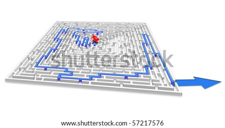 Finding the way out - stock photo