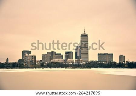 Fine art image of Boston Harbor - stock photo