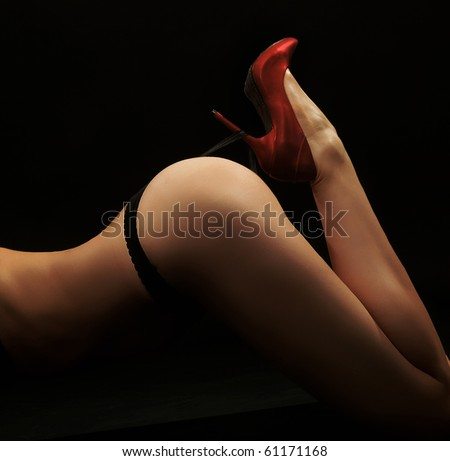 Fine art photo of a woman's butt - stock photo