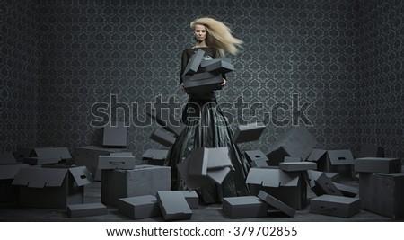 Fine art photo of an beautiful lady - stock photo